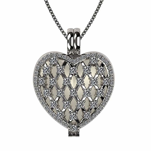 NaNa_Mother's_Heart_Locket_Pendant,_Sterling_Silver&Mother_of_Pearl,_with