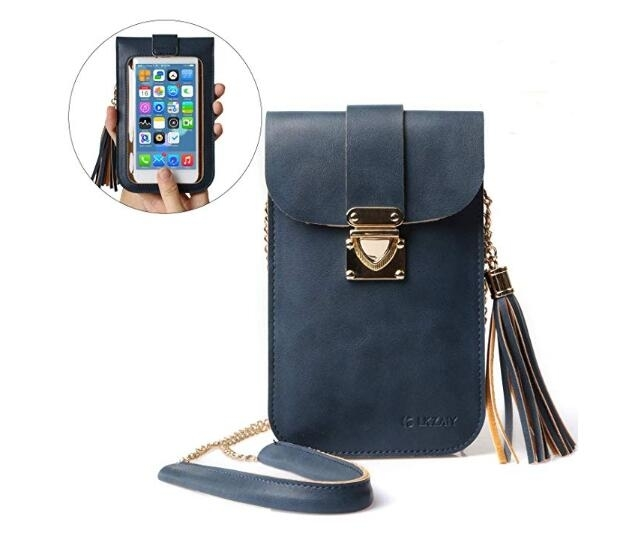Cell Phone Bag��PU Leather Small Crossbody Bag with Detachable Chain Shoulder Strap Clear Purse Wallet for Women (imomoi) photo