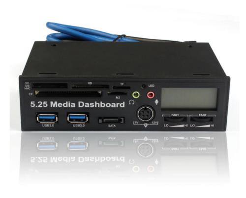 5.25 USB 3.0 High Speed Media Dashboard Front Panel PC Multi Card Reader (MEGASAVE) photo