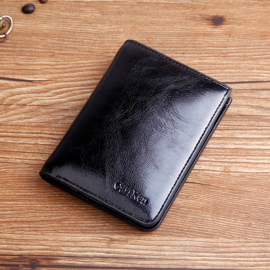 Classic Style Wallet Men Wallets Short Male Purse Card Holder Wallet Men (XYM81214909BK_yuan) photo