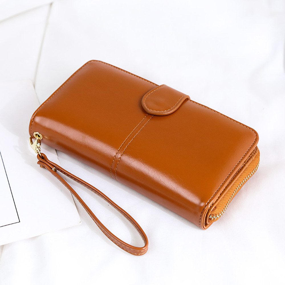 Women Leather Two fold Wallet Coin Purses Credit Cards Holder Pocket h (LJD80227893BW_yuan) photo