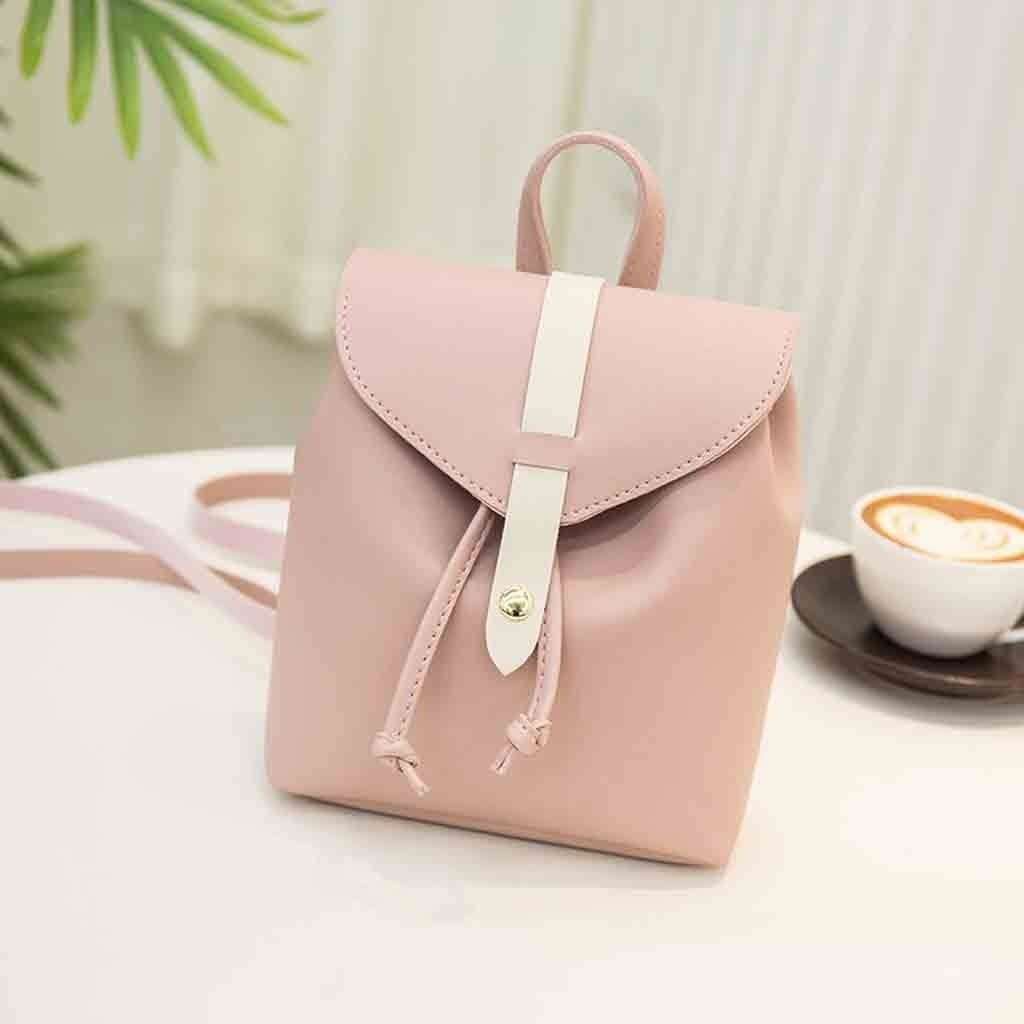 Fashion Lady Shoulders Small Backpack Letter Purse Mobile Phone Messenger (LYH81215414PK_yuan) photo
