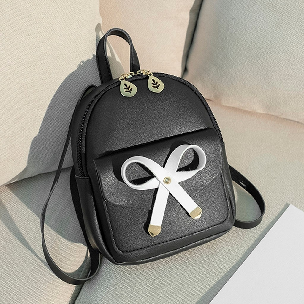 Fashion Lady Shoulders Small Backpack Letter Purse Mobile Phone Messenger (LYH90328415BK_yuan) photo