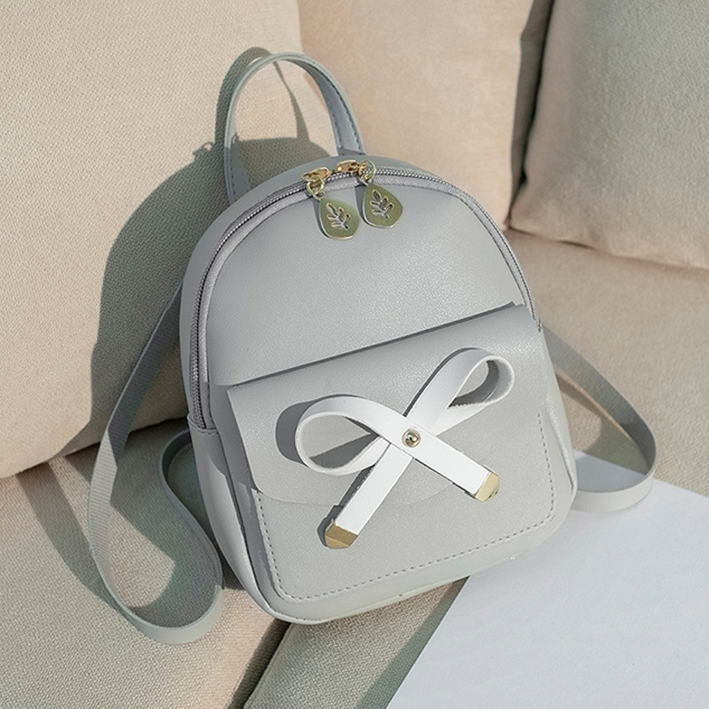 Fashion Lady Shoulders Small Backpack Letter Purse Mobile Phone Messenger (LYH90328415GY_yuan) photo