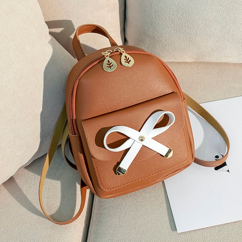Fashion Lady Shoulders Small Backpack Letter Purse Mobile Phone Messenger (LYH90328415BW_yuan) photo