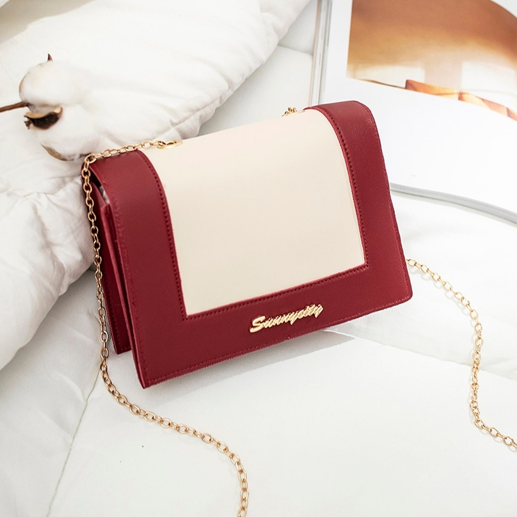 Fashion Lady Shoulders Small Backpack Letter Purse Mobile Phone Messenger (LYH90411418RD_yuan) photo