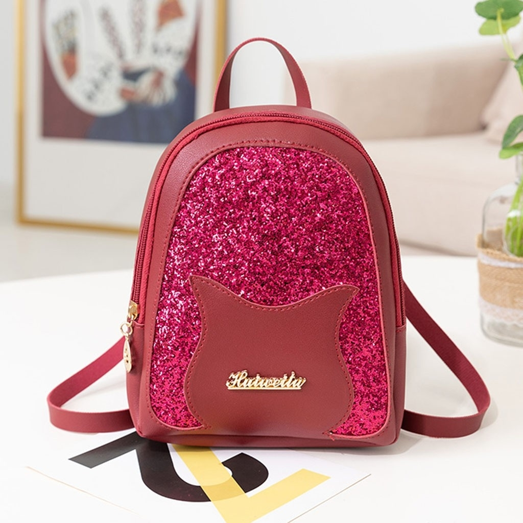Fashion Lady Shoulders Small Backpack Letter Purse Mobile Phone Messenger (LYH90411419RD_yuan) photo