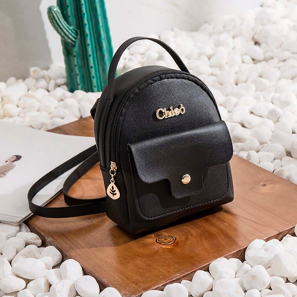 Fashion Ladies shoulders Small Backpack Letter Purse Mobile Phone Bag (Huazada) photo