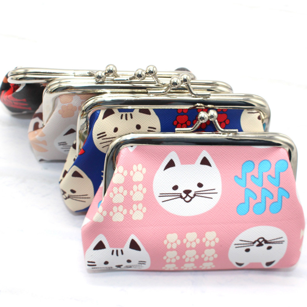 Women Girl Printing Bohemia Style Leather Wallet Coin Purse Card Holders photo