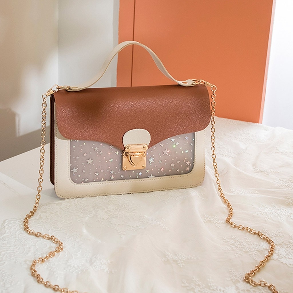Fashion Lady Shoulders Small Backpack Sequin Purse Mobile Phone Messenger (LYH90416411BW_yuan) photo