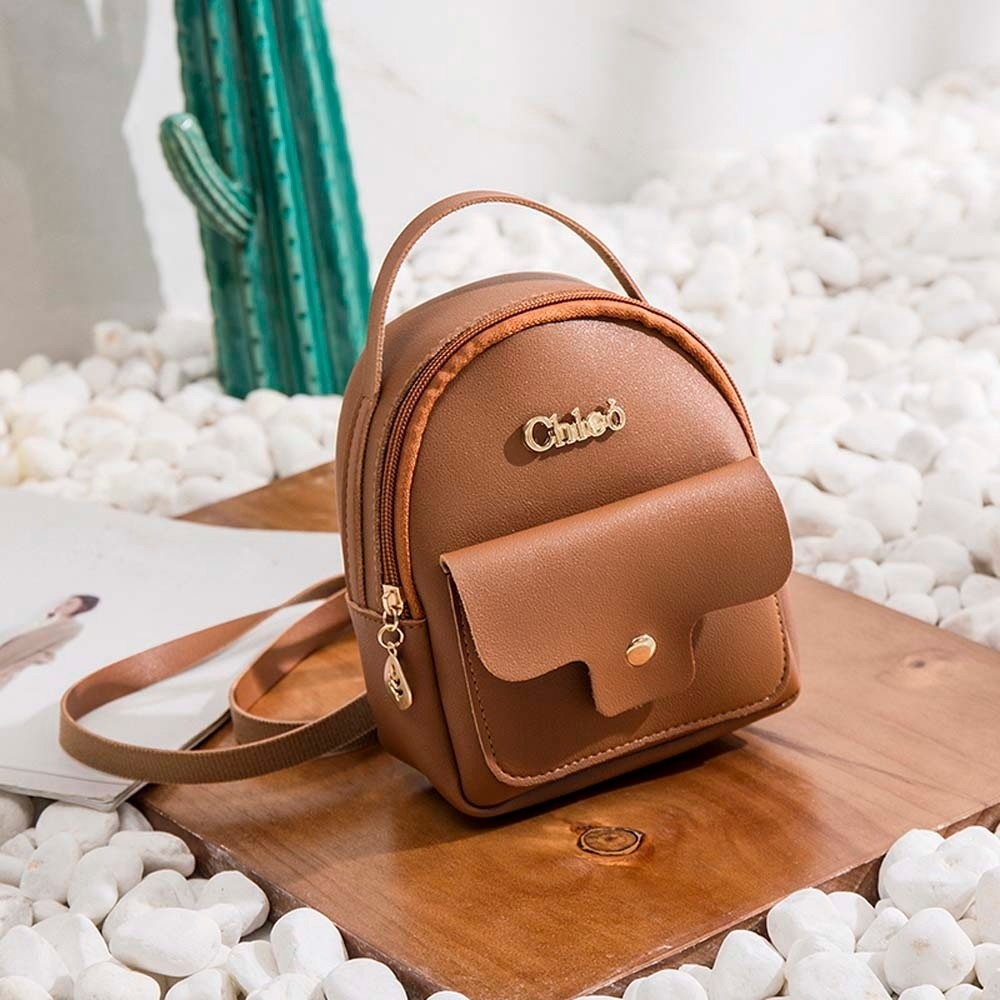 Fashion Ladies shoulders Small Backpack Letter Purse Mobile Phone Bag (LYH80925412BW_yuan) photo
