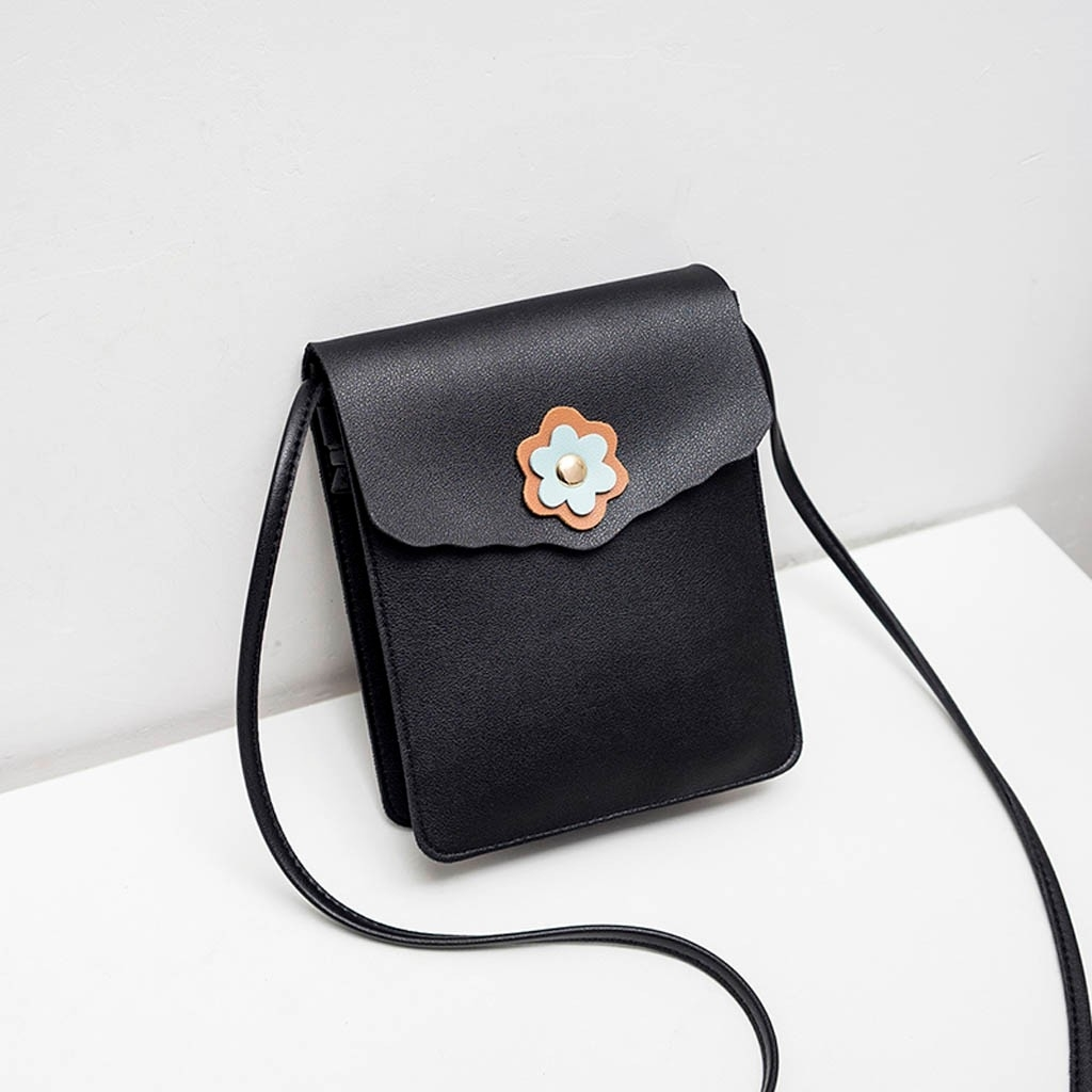 Fashion Lady Shoulders Small Backpack Letter Purse Mobile Phone Messenger (LYH90318418BK_yuan) photo