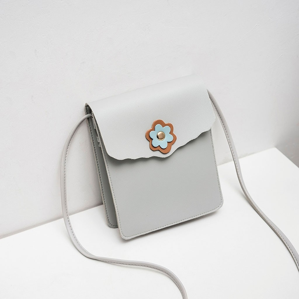 Fashion Lady Shoulders Small Backpack Letter Purse Mobile Phone Messenger (LYH90318418GY_yuan) photo