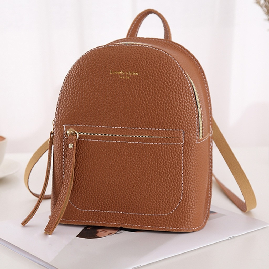 Fashion Lady Shoulders Small Backpack Letter Purse Mobile Phone Messenger (LYH90416417BW_yuan) photo