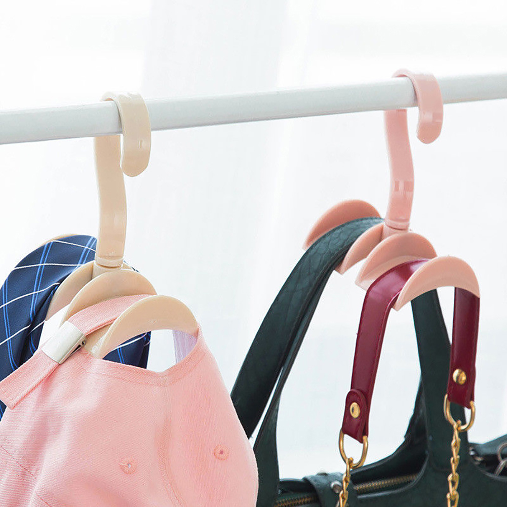 Practical Closet Organizer Rod Hanger Purse Handbag Hanging Storage Holder (110868) photo