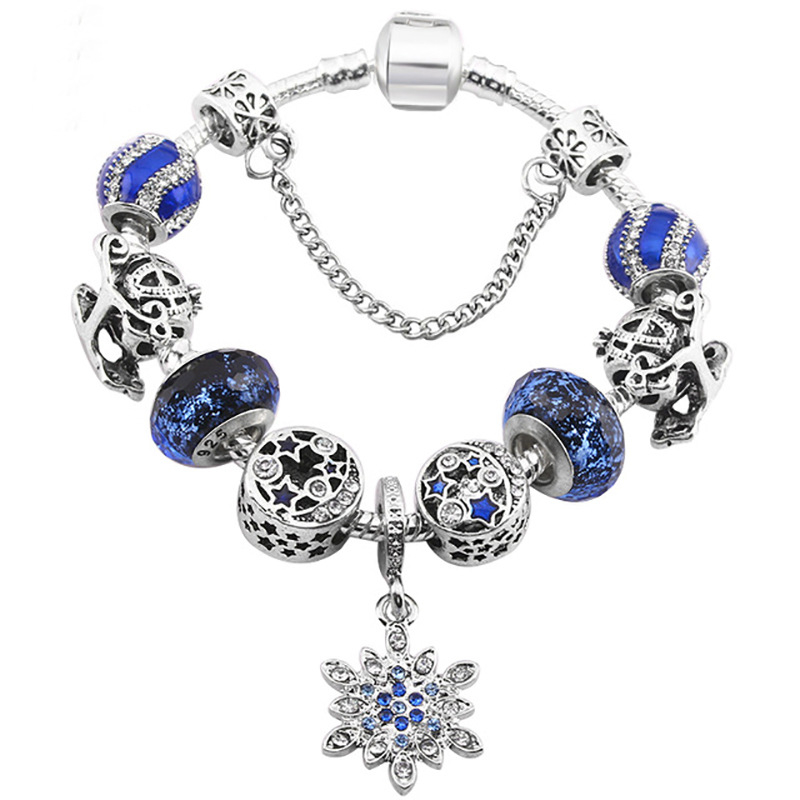 Blue_Star_Female_Bracelet_Alloy_Diy_Snowflake_Pendant_Pumpkin_Car_Glass