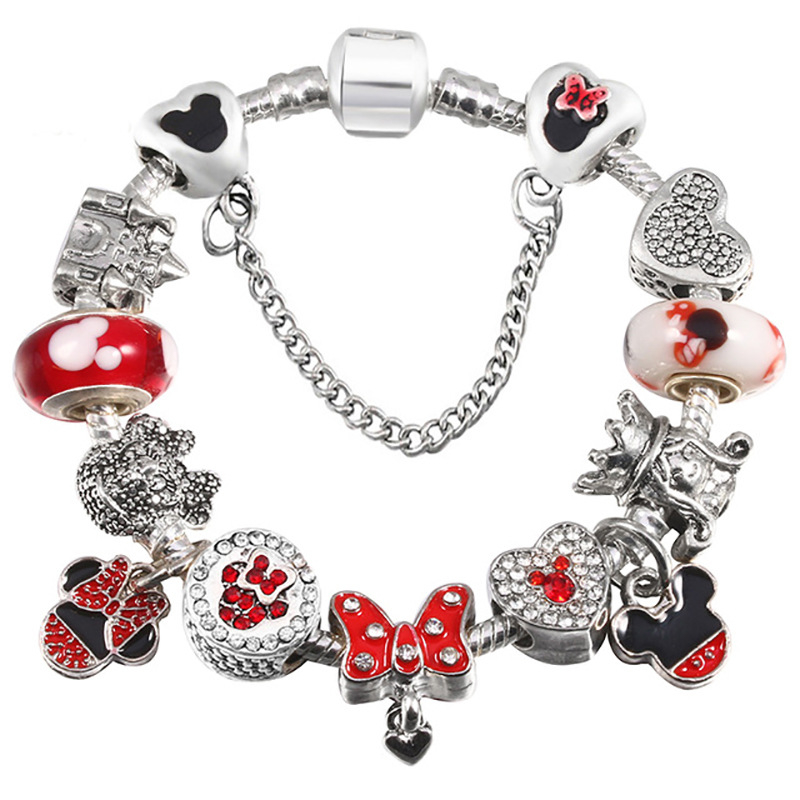 New_Creative_Cartoon_Bracelet_DIY_Mickey_Pendant_Bracelet
