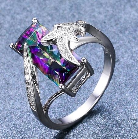 S925_Sterling_Silver_aubergine___White_Diamond_leaf_ring_-_6