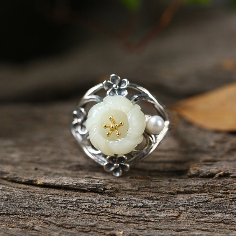925_sterling_silver_natural_hetian_jade_flower_gold_opening_ring_national