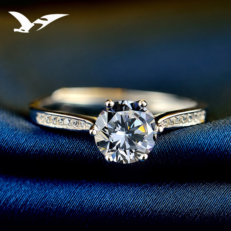 S925_sterling_silver_ring_female_simple_zircon_jewelry_simulation_diamond