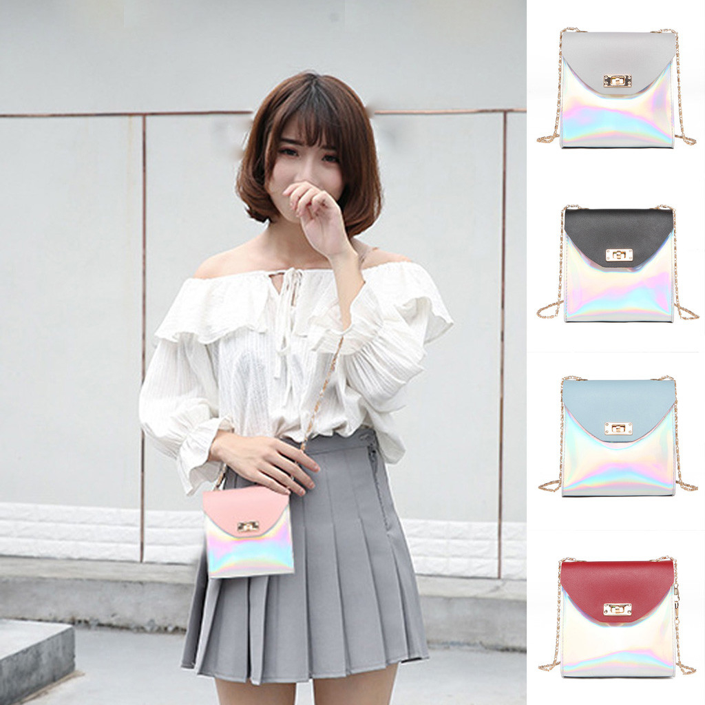 New Sweet Woman Shoulder Bag Coin Purse Small Square Bag Creative Messenger photo