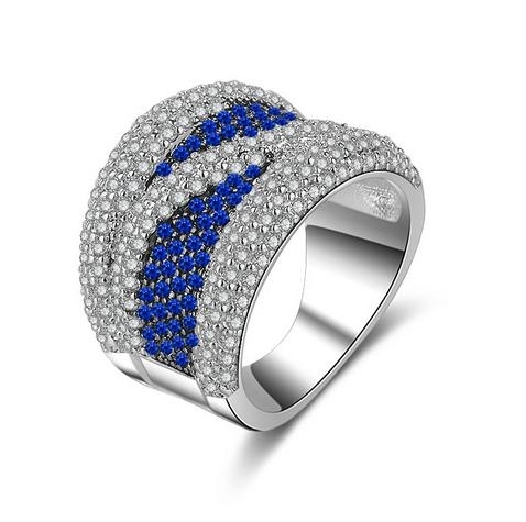New_18K_Platinum_Diamond_Ring_Luxury_High-end_Ring_-_blue,_6