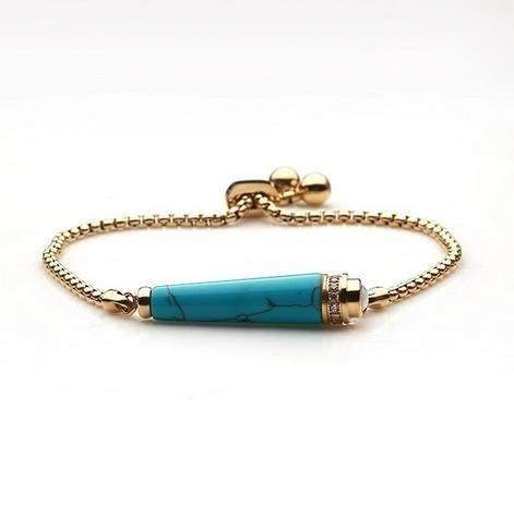 New_Turquoise_Gold_Lady's_Bracelet