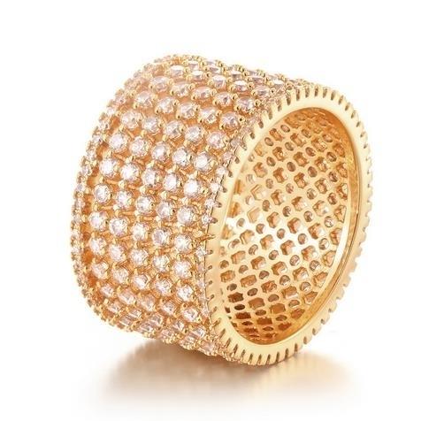 18K_Gold_cylindrical_net_drill_zircon_ring_-_7