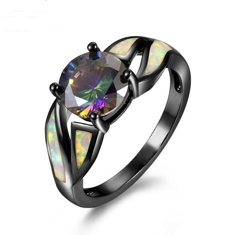 Fashionable_Seven-color_Zirconium_Diamond_Black_Ring_Women's_Aobao_Ring