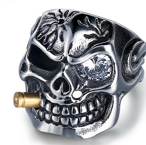 European_and_American_hegemonic_diamond_skull_titanium_steel_ring_personality