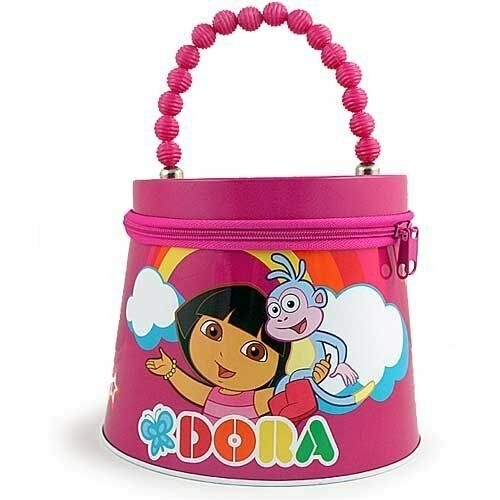 Dora the Explorer Beaded Tin Purse  - Hot  Pink (CB0520) photo