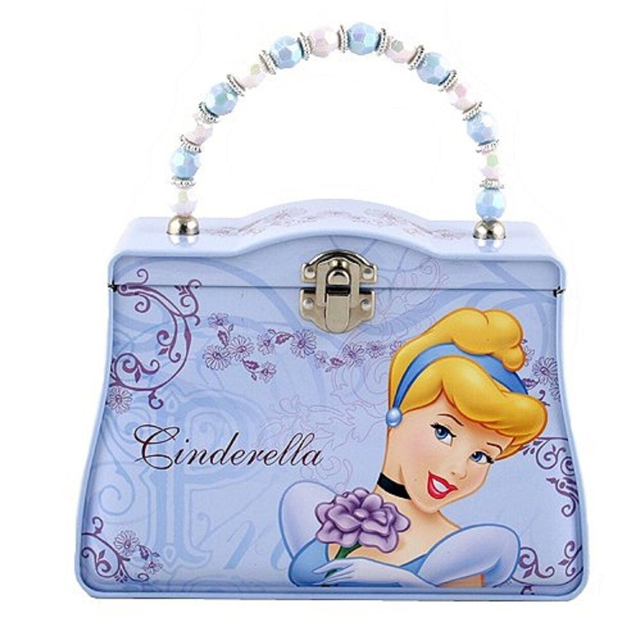Princess Cinderella Carry All Tin Clutch Purse with Beaded Handle (CB3014) photo