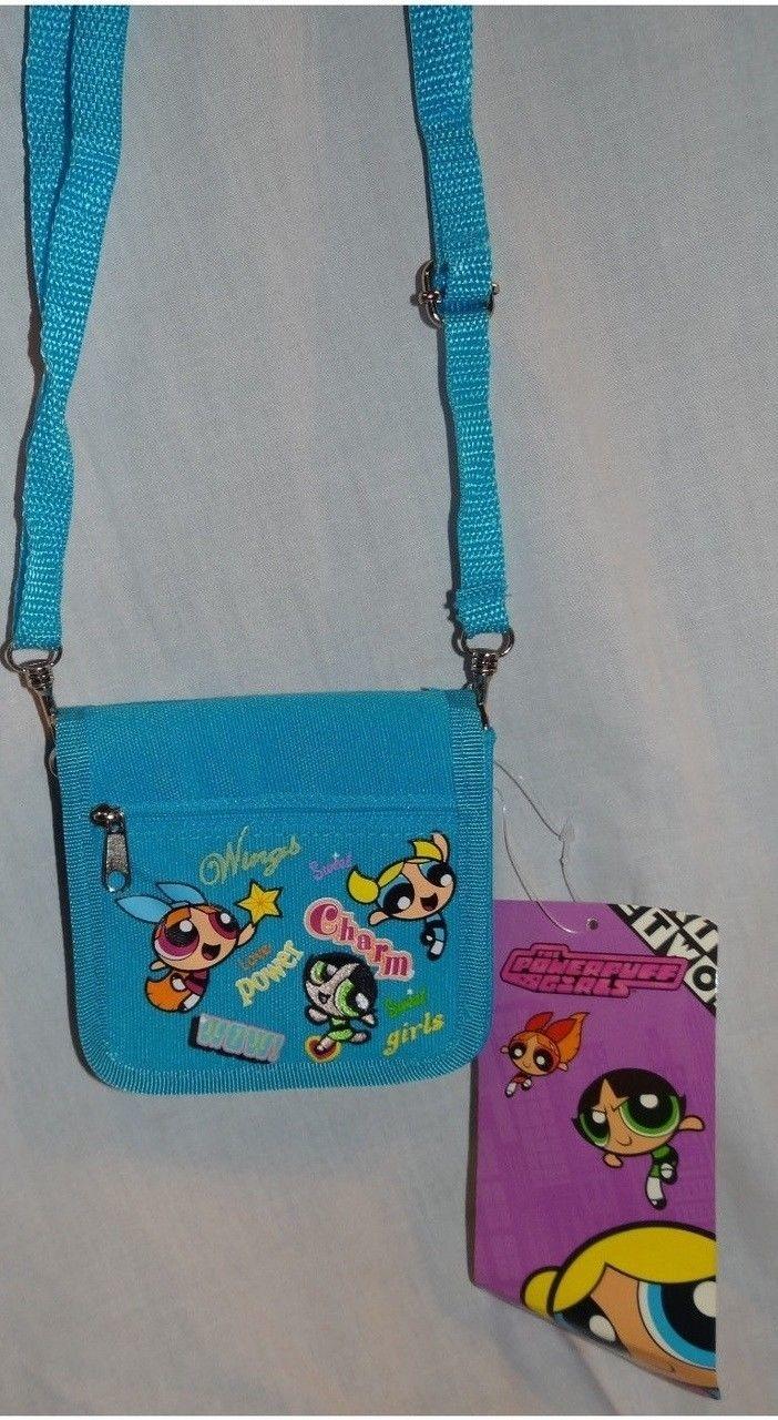 Power Puff Girls Cloth Purse Wallet Blue (CB8267) photo