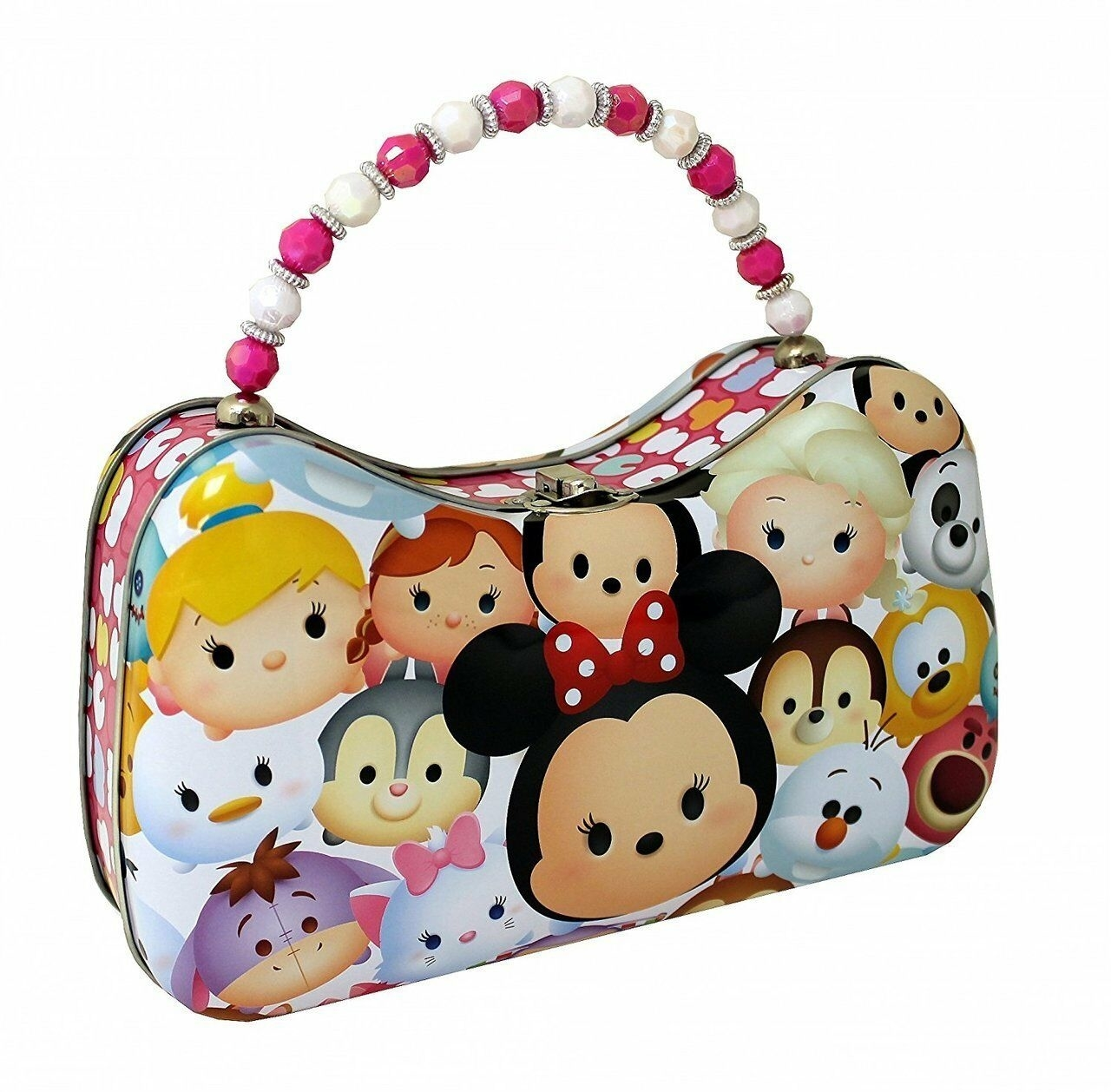 Tsum Tsum Tin Purse with Beaded Handle - Friends (CB9075) photo