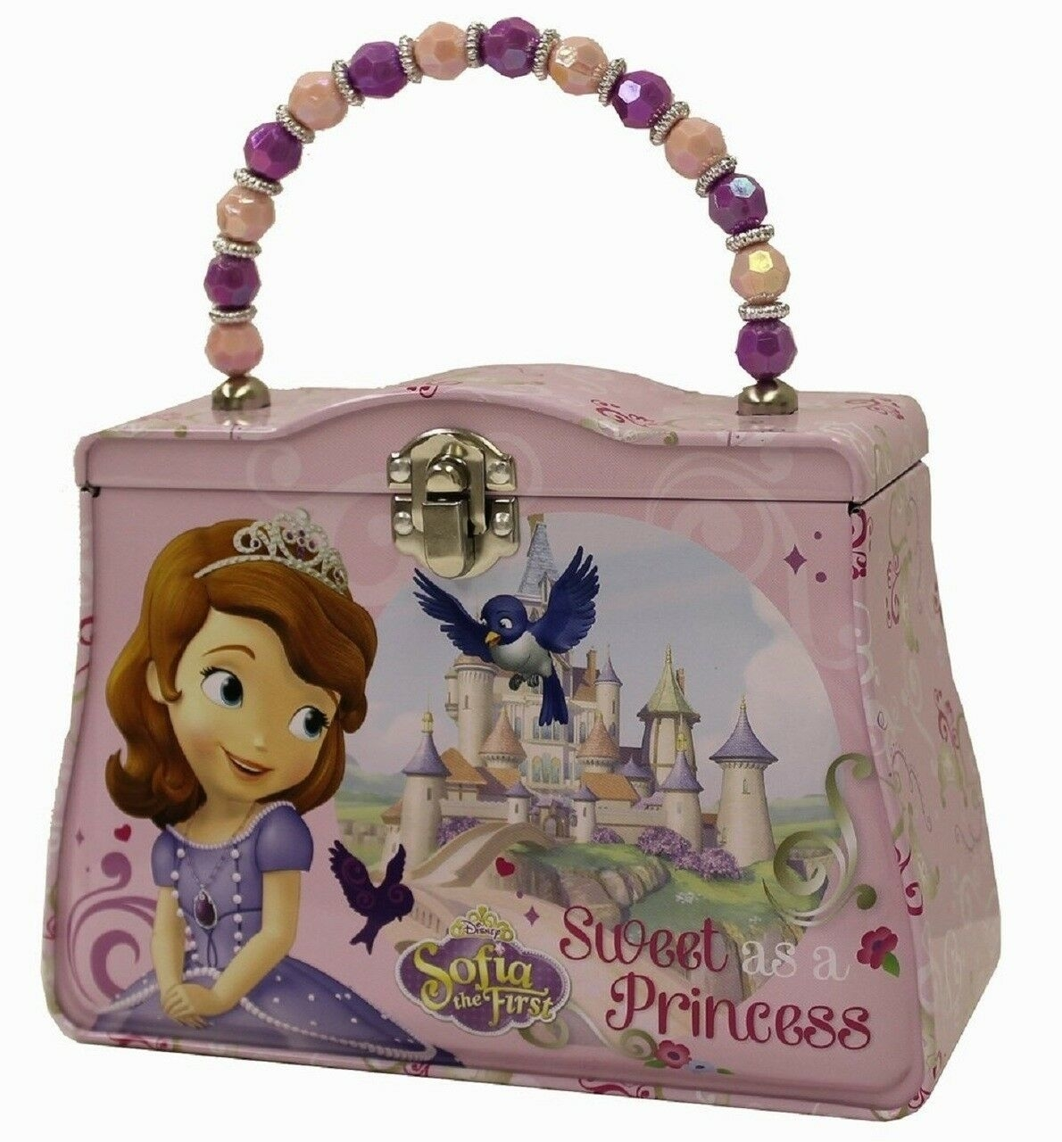 Princess Sofia the First Tin Beaded Purse - Sweet as a Princess (078678620103) photo
