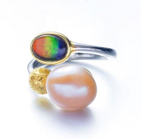 Canadian_Spotted_Stone_Baroque_Pearl_Ring_Originally_Designed_Women's