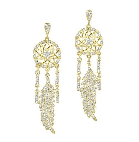 Noble_Ruili_women's_temperament_set_with_diamond_pendant_ear_nails_Dreamnet