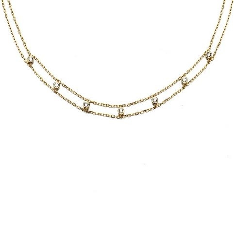 925_Silver_Baitao_Necklace_New_14K_Gold_Clavicle_Chain_Double_Layer_Zi