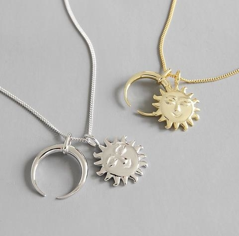 S925_sweater_chain_with_sun_and_Moon_Necklace_-_gold