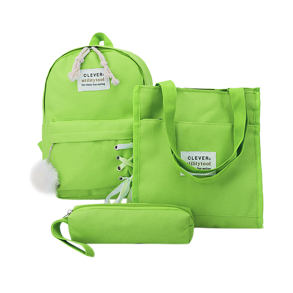 Children's Backpack Pupils School Bag Pencil Bag Tutorial Purse Backpack (XYL90712501GN) photo