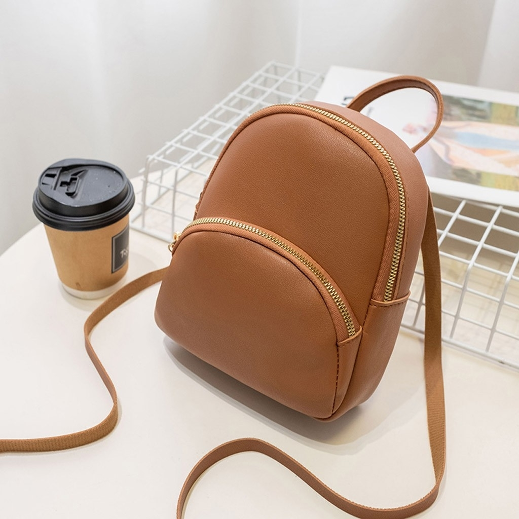 Women Shoulders Small Backpack Letter Purse Mobile Phone Messenger Bag (LYH90708414BW) photo