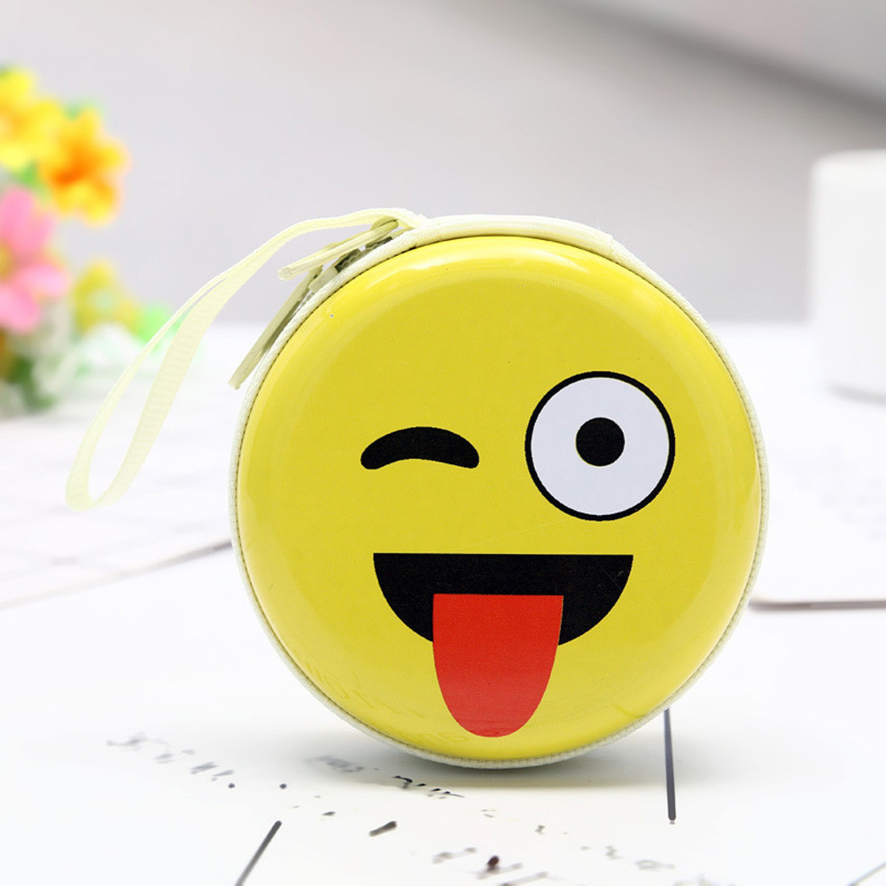 Mini Coin Cute Expression Elements  Round Headset Purse  Wallet Pouch (ZAY80815223F_huazada) photo