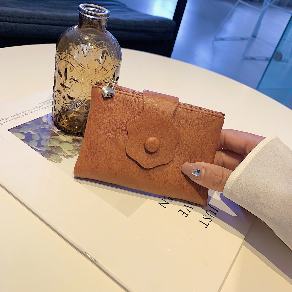 Women  Cute Soft Leather Change Purse Wallet Credit Card Holder_1184 (QQQ90521092BW) photo