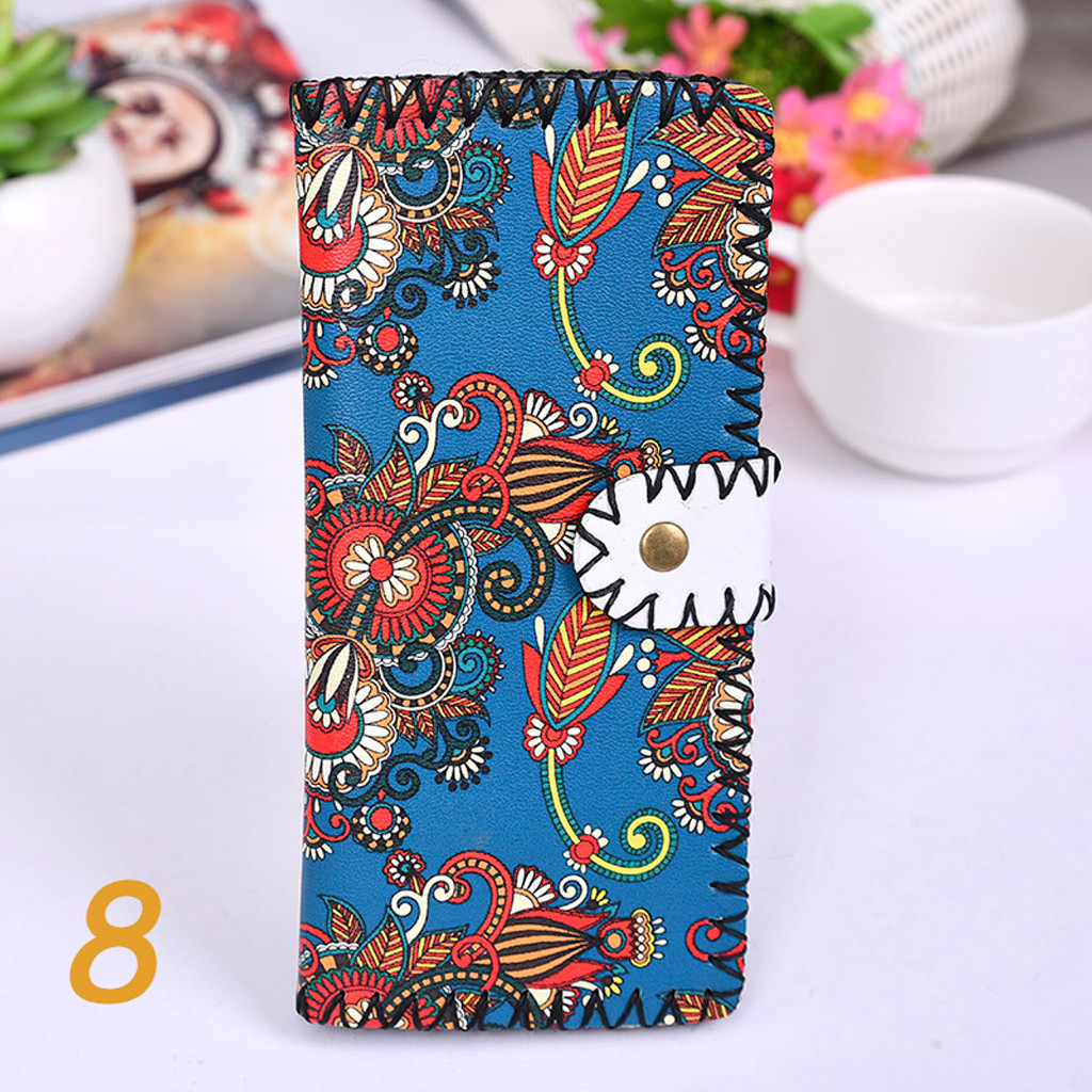 Women's Upgraded Handmade Wallet Coin Purse National Style Wallet Coin (XYL90812803G) photo