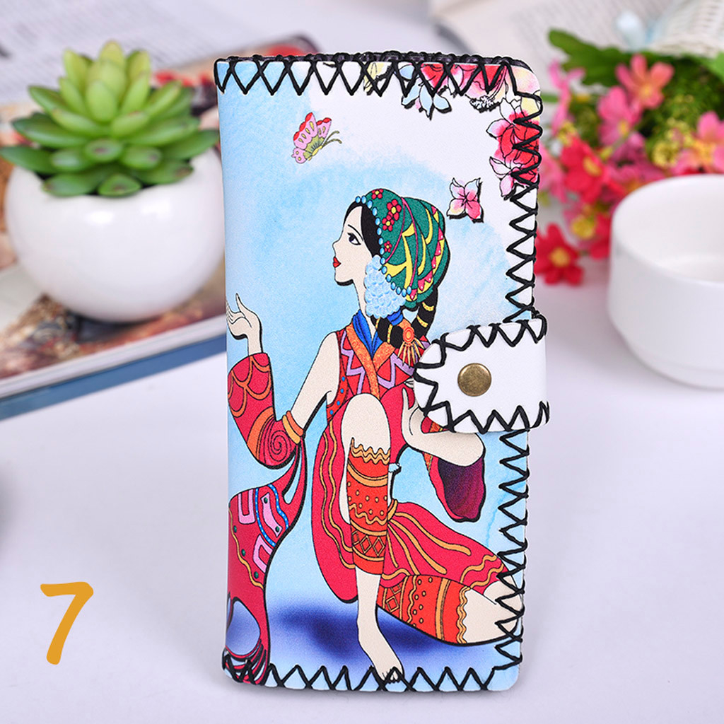 Women's Upgraded Handmade Wallet Coin Purse National Style Wallet Coin (XYL90812803F) photo