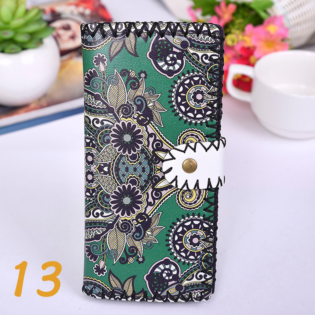Women's Upgraded Handmade Wallet Coin Purse National Style Wallet Coin (XYL90812803K) photo