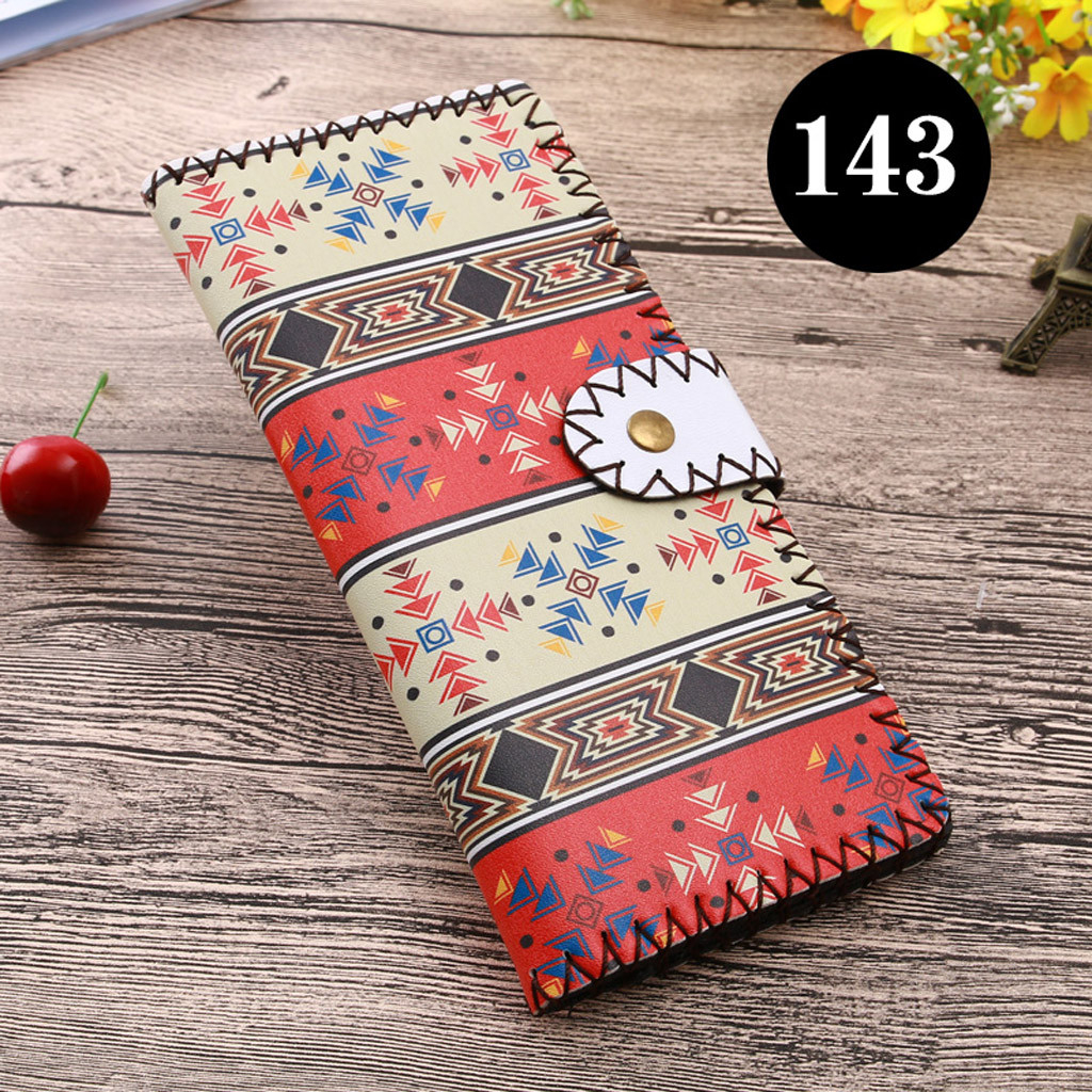 Women's Upgraded Handmade Wallet Coin Purse National Style Wallet Coin (XYL90812804B) photo