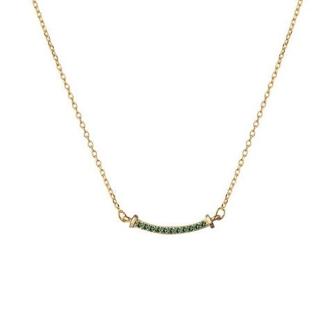 Japanese_light_and_luxurious_emerald_gold-plated_14K_golden_diamond_necklace