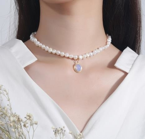 Yuanpai_Moonstone_Pearl_Necklace_Korean_925_Pure_Silver_Natural_Baroque
