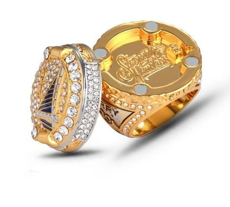 NBA_warriors_men's_ring_Curie_Durant_official_ring_-_silver,_9